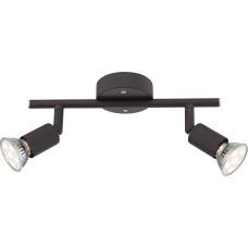 Спот Globo 57382-2L, черный, GU10 LED, 2x3W