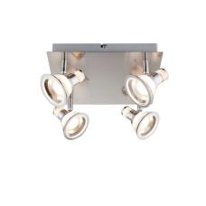 Спот Globo 56956-4, матовый никель, LED, 4x5W