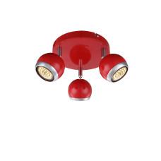 Спот Globo 57885-3O, красный, GU10, 3x50W