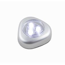 Фонарик мебельный Globo 31909, серебро, lED, 3x0,21W
