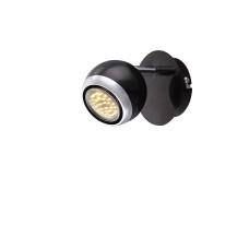 Спот Globo 57884-1, черный, GU10 LED, 1x3W