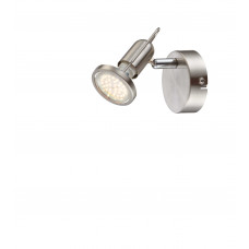 Спот Globo 54382-1, матовый никель, GU10 LED, 1x3W