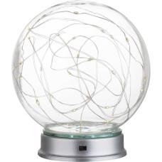 Настольная лампа декоративная Globo 29934, серебро, LED, 30x0,03W