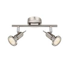 Спот Globo 54382-2, матовый никель, GU10 LED, 2x3W