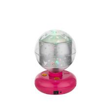 Настольная лампа GLOBO 28018, розовый, LED, 3x0,06W