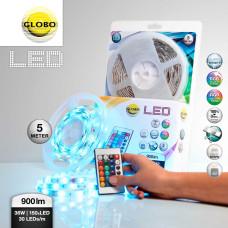 Светодиодная лента Globo 38990, rgb, RGB LED, 150x0,17W