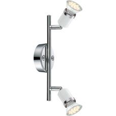 Спот Globo 57996-2, хром, GU10 LED, 2x3W