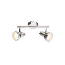 Спот GLOBO 56116-2, никель, хром, LED, 2x4W