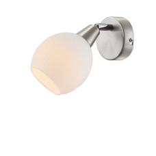Спот Globo 54351-1, матовый никель, E14 LED, 1x3W