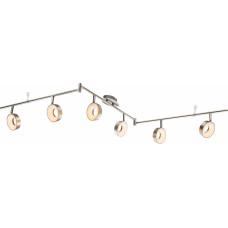 Спот GLOBO 56132-6, никель, LED, 6x4,5W