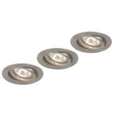 Светильник точечный Globo 12110-3, матовый никель, GU10, 3x50W