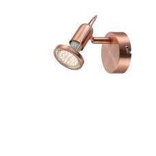 Спот Globo 54383-1, медь, GU10 LED, 1x3W