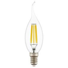 933604 Лампа LED FILAMENT 220V CA35 E14 6W=65W 400-430LM 360G CL 4000K 30000H (в комплекте)