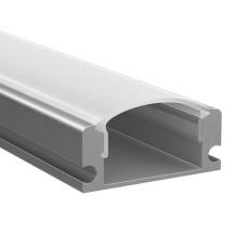 409429 Профиль PROFILED с прямоугольн. рассеив-м д/светодиод. лент, материал: алюминий,1шт=2м