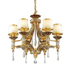 2803/6 HALL ODL15 466 зол/декор старое золото/плафон стекло Люстра E14 6*60W 220V PETA