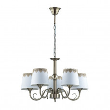 2998/5 COMFI LN16 194 бронзовый/декор. стекло/ткань Люстра Е14 5*40W 220V PLACIDA