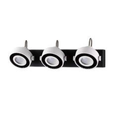 3490/3W MODERN ODL18 145 белый с черным Настенный светильник IP20 GU10 3*50W 220V SATELIUM
