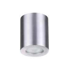 3570/1C MODERN ODL18 189 матов.алюминий Потолочн.накладной светильник IP44 GU10 1*50W 220V AQUANA