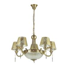 3413/8 CLASSIC ODL17 543 бронзовый/ткань/декор цепочки Люстра E14 8*40W 220V FLAVIA