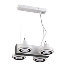 3490/4 MODERN ODL18 белый с черным Подвесной светильник IP20 GU10 4*50W 220V SATELIUM