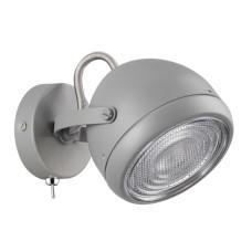 3803/1W MODERN ODL19 250 серый/металл Настенный светильник GU10 1*50W 158х114,5х135 GRAFFITO