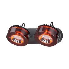 3818/20WL L-VISION ODL19 черный c коньячным Настенный светильник LED 2*10W 220V VIVACE