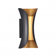 3886/6BG HIGHTECH ODL20 177 черн/золот/металл Настен.светильник LED 4000K 6W 220V IP54 KRISTA