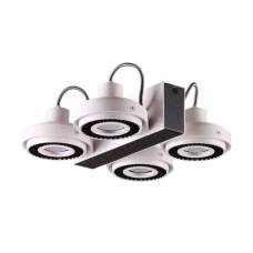 3490/4C MODERN ODL18 146 белый с черным Потолочный светильник IP20 GU10 4*50W 220V SATELIUM