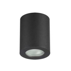 3572/1C HIGHTECH ODL18 189 черный Потолочный накладной светильник IP44 GU10 1*50W 220V AQUANA