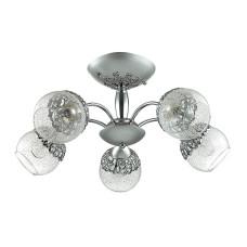 3020/5C LN16 162 хром/стекло/метал. декор Люстра потолочная E14 5*60W 220V NEVETTE