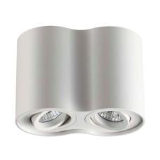 3564/2C HIGHTECH ODL18 185 белый Потолочный накладной светильник IP20 GU10 2*50W 220V PILLARON