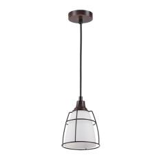 3806/1L MODERN ODL19 257 коричневый/стекло Подвесной светильник E14 1*60W 133х133х1753 LOFIA