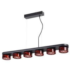 3818/60L L-VISION ODL19 черный c коньячным Подвесной светильник LED 6*10W 220V VIVACE