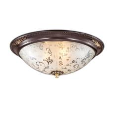 2671/3C CLASSIC ODL14 597 коричн с зол.декор/белый Потолочн светильник E27 3*60W 220V CORBEA