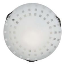 162/K SN 103 Светильник стекло E27 2*60Вт D300 QUADRO WHITE