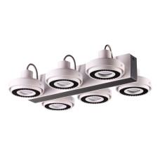 3490/6C MODERN ODL18 95 белый с черным Потолочный светильник IP20 GU10 6*50W 220V SATELIUM