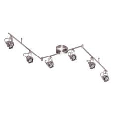 3807/6C MODERN ODL19 261 глянцевый никель/металл Потолочный светильник GU10 6*50W 1744х142х229 BRETA