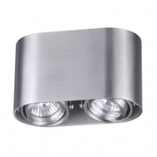 3576/2C MODERN ODL18 191 матов.алюминий Потолочн.накладной светильник IP20 GU10 2*50W 220V MONTALA