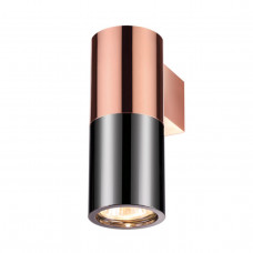 3583/1W HIGHTECH ODL19 201 черный с медью/металл Настенный светильник GU10 1*50W D180*H63 DUETTA