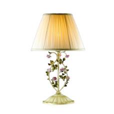 2796/1T COUNTRY ODL15 599 беж/декор.цветы/абажур ткань Н/лампа E27 60W 220V TENDER