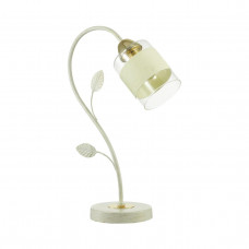 3029/1T COMFI LN19 169 золото/беж/стекло/декор.тесьма Настольная лампа E27 60W 220V FILLA