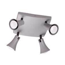 3825/4C MODERN ODL19 серый Потолочный светильник GU10 4*50W 220V REANNA