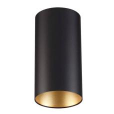 3555/1C MODERN ODL18 197 черный с золотом Потолочный накладной светильник IP20 GU10 1*50W 220V PRODY