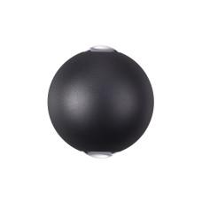 3904/6WB HIGHTECH ODL20 118 черный/металл Настенный светильник LED 3500K 6W 220V IP65 PALLA