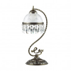 2989/1T CLASSI LN16 243 бронзовый/стекло/хрусталь Настольная лампа E27 60W 220V AVIFA