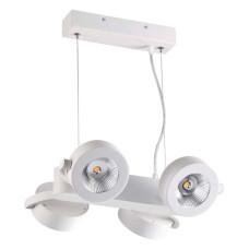 3493/40L L-VISION ODL18 152 матовый белый Подвесн.светильник IP20 LED 3000K 4*10W 3040Лм 220V PUMAVI
