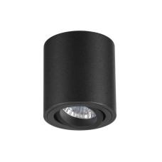 3568/1C HIGHTECH ODL18 187 черный Потолочный накладной светильник IP20 GU10 1*50W 220V TUBORINO