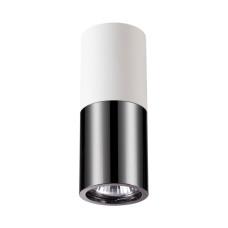 3834/1C HIGHTECH ODL19 203 белый с черным/металл Накладной светильник GU10 1*50W D63хH180 DUETTA