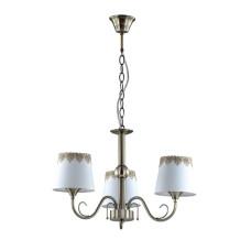 2998/3 COMFI LN16 194 бронзовый/декор. стекло/ткань Люстра Е14 3*40W 220V PLACIDA
