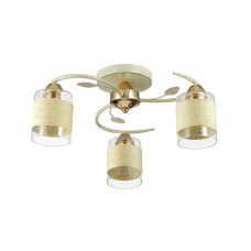 3029/3C COMFI LN16 168 золото/беж/стекло/декор.тесьма Люстра потолочная E27 3*60W 220V FILLA